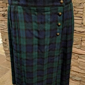 Saville kilt type plaid skirt size 16